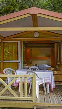 exterieur chalet cigale location camping origan