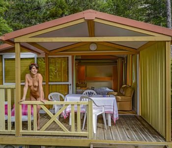 exterieur chalet cigale location camping origan