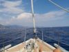 Naturist sailing on boat from Monaco