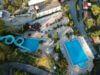 Vue aerienne piscine naturiste provence